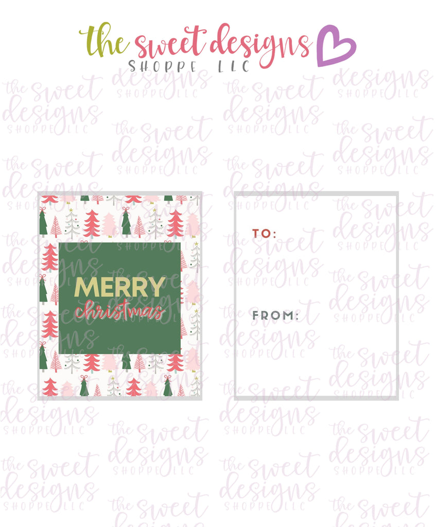 "MerryChristmas #6 - Instant Download 2"" x 2.5"" tag"