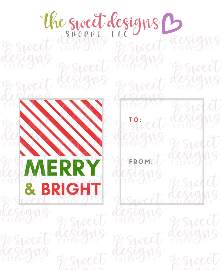 "Merry+Bright #6 - Instant Download 2"" x 2.5"" tag"