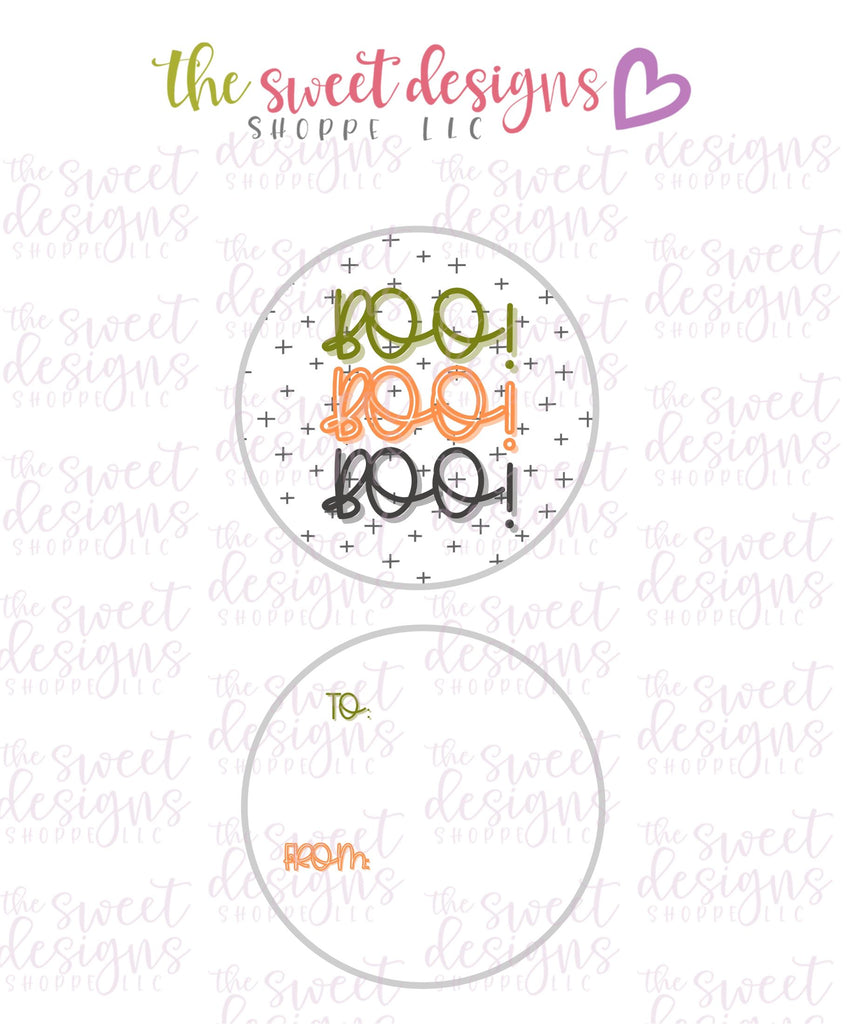 "Boo #2 -  Instant Download 2"" Round Tag"
