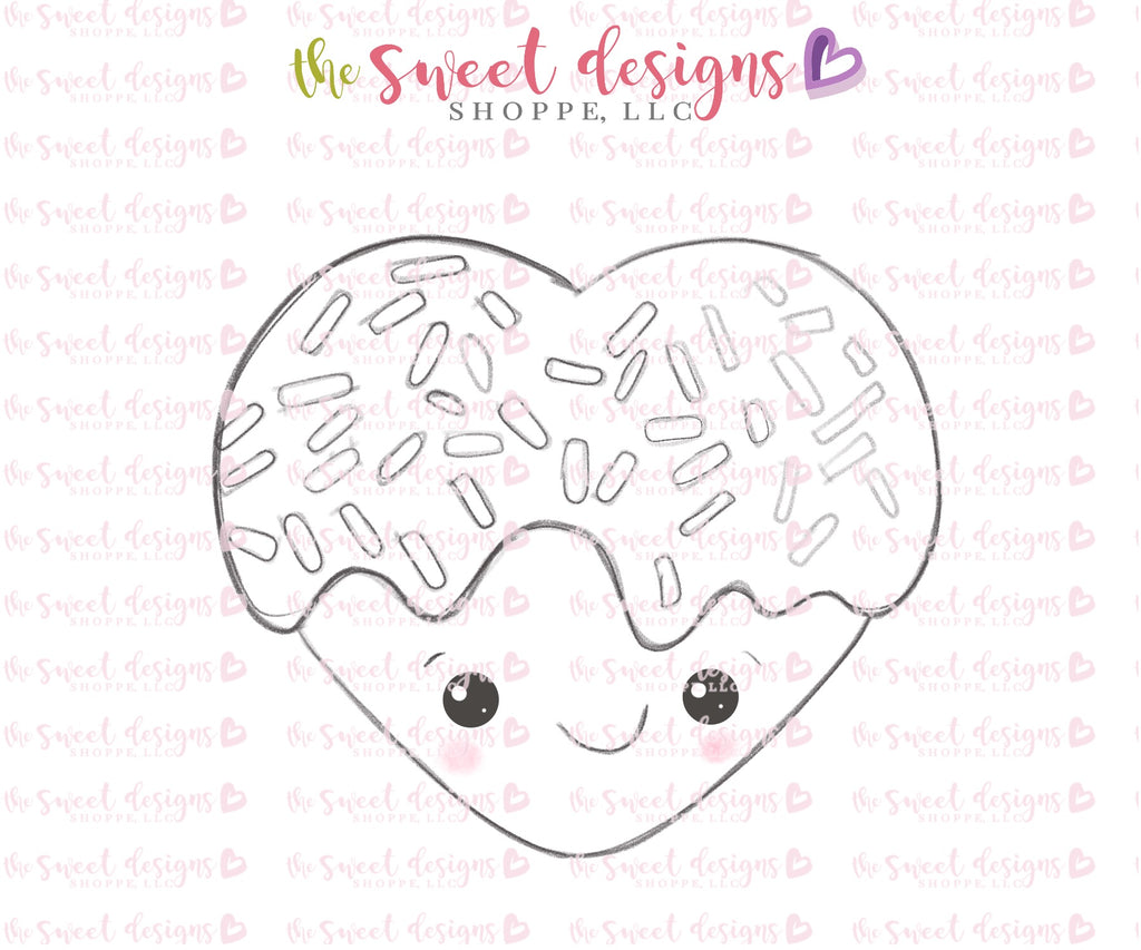 Kawaii Heart with Sprinkles - Cutter