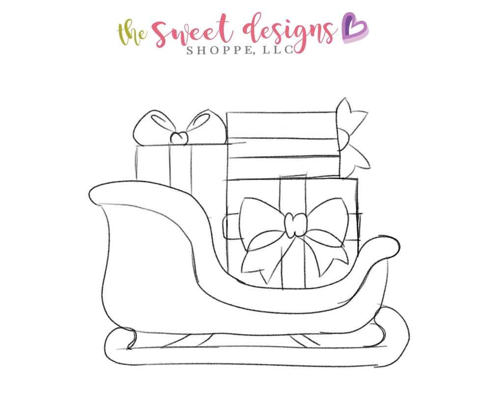 Santas Sleigh with Gifts - Cutter