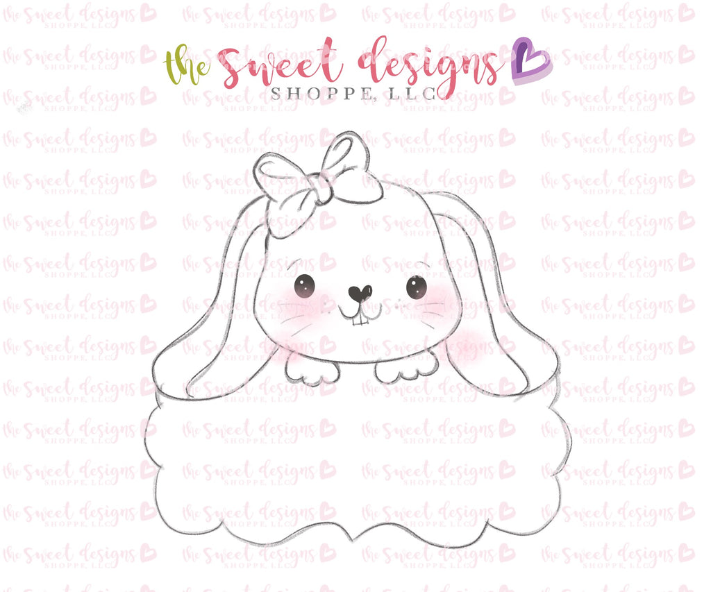 Girly Cute Bunny Plaque