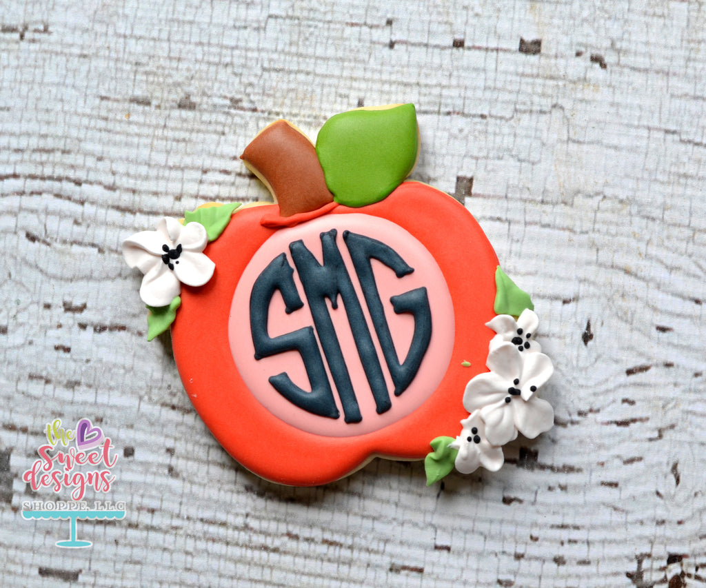 Monogram Apple with Flowers - Cutter