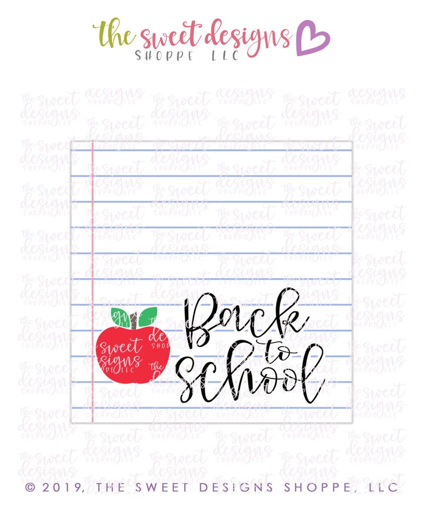 Back to School - Instant Download Topper 3""