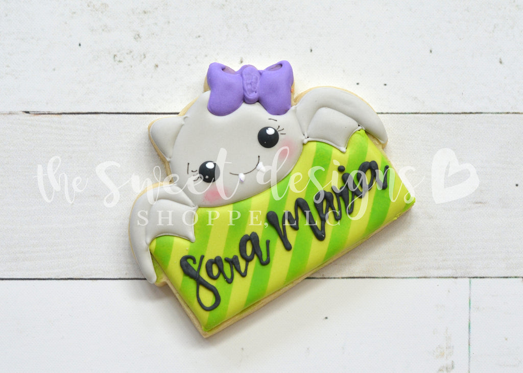 Girly Bat Plaque