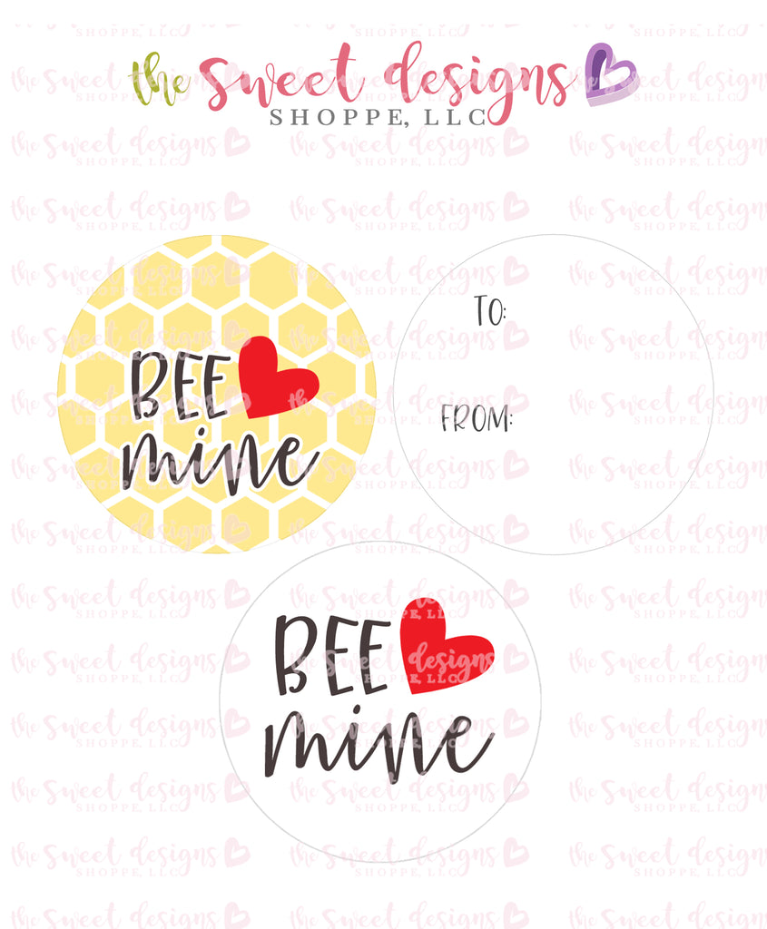 "Bee Mine - Instant Download 2"" Round Tag"