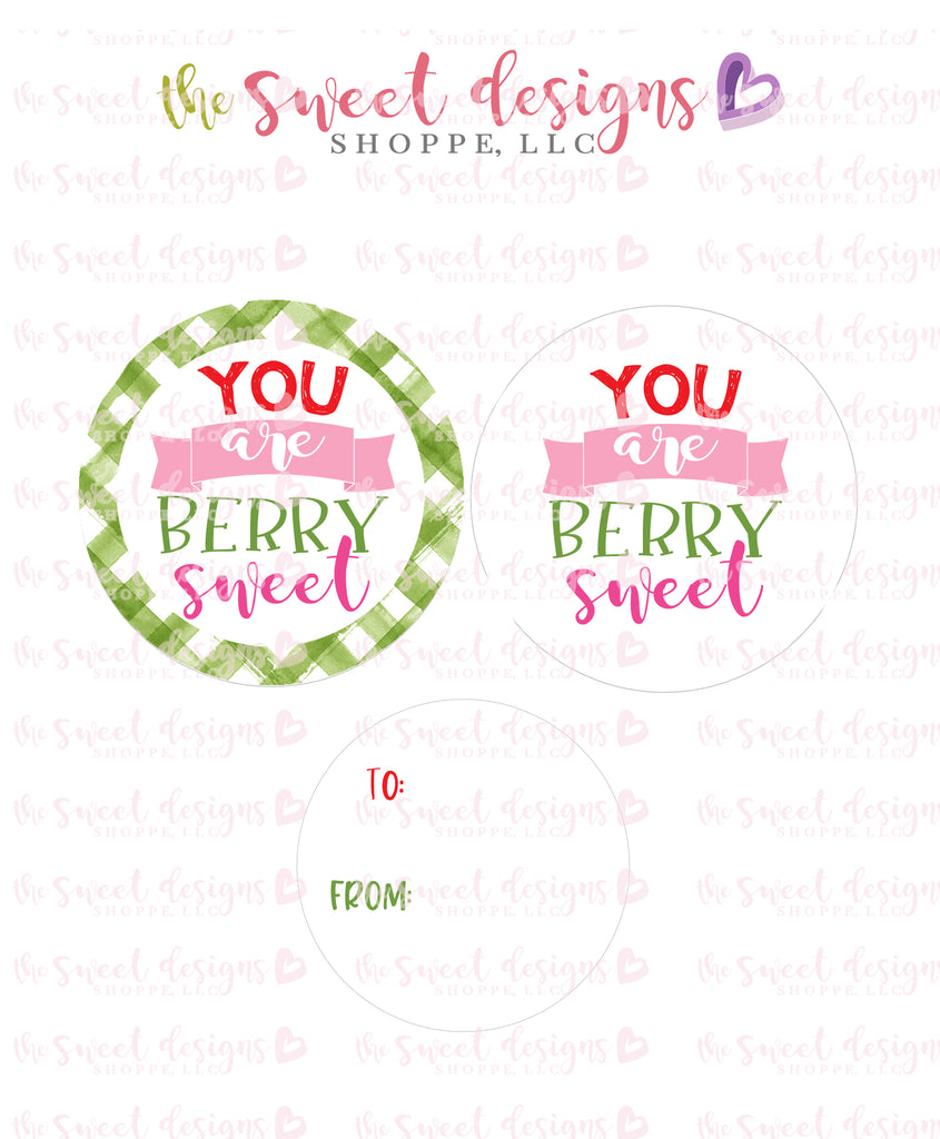 "You are BERRY sweet - Instant Download 2"" Round Tag"