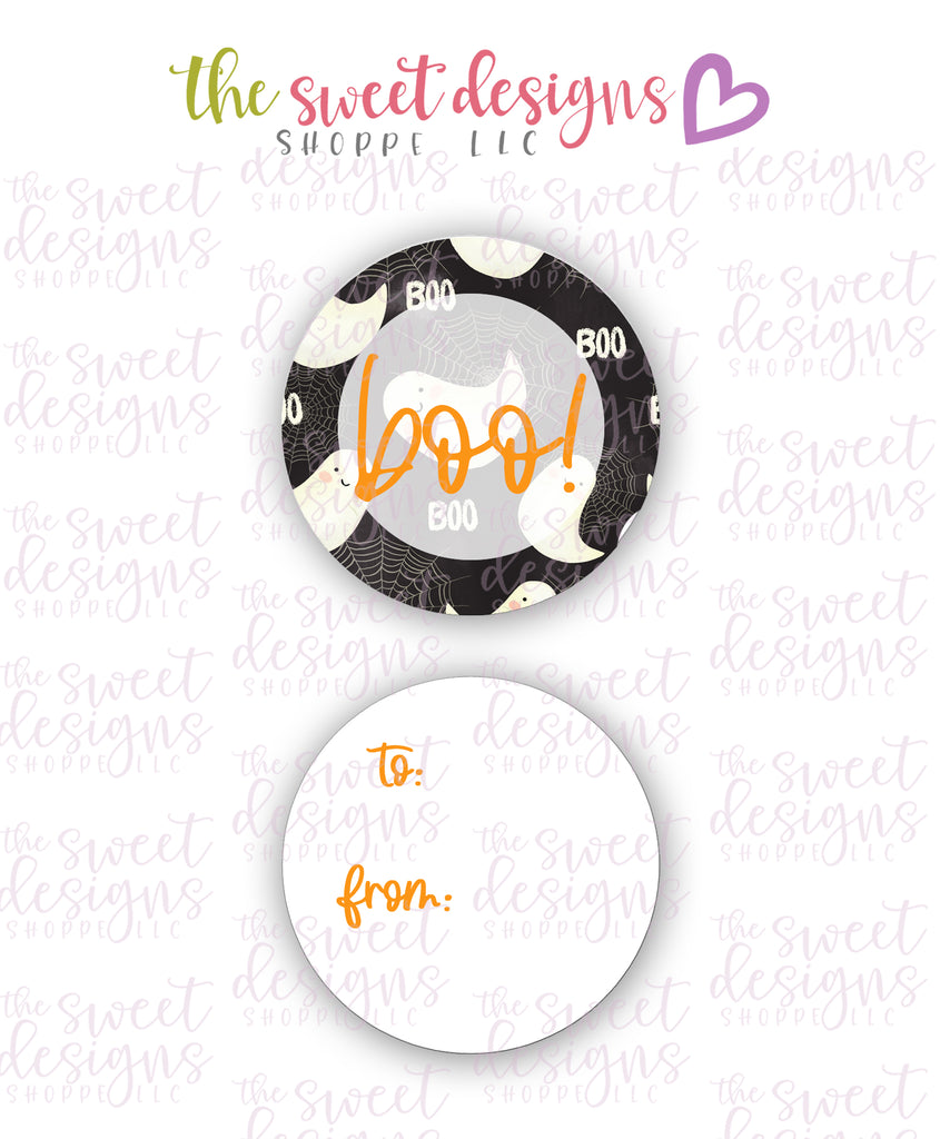 "Boo #1 -  Instant Download 2"" Round Tag"