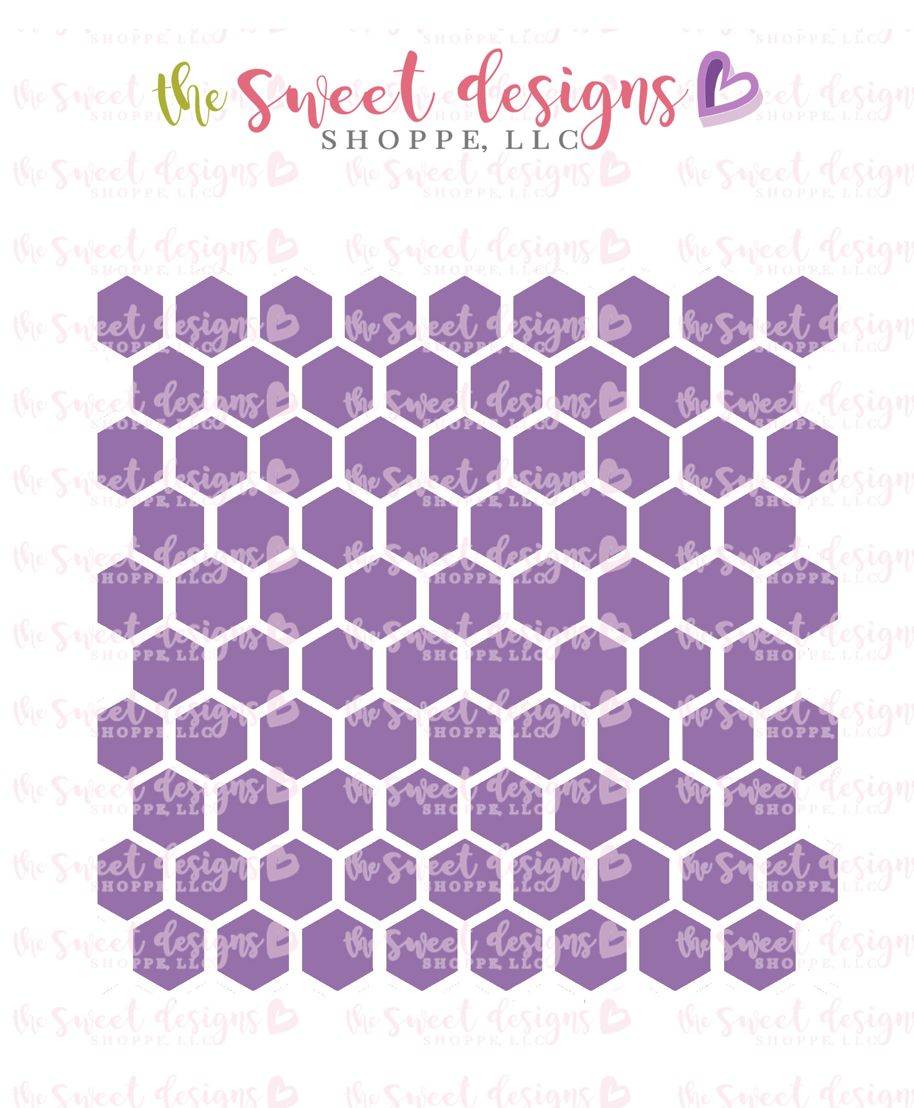 Honeycomb Hexagon Stencil The Sweet Designs Shoppe