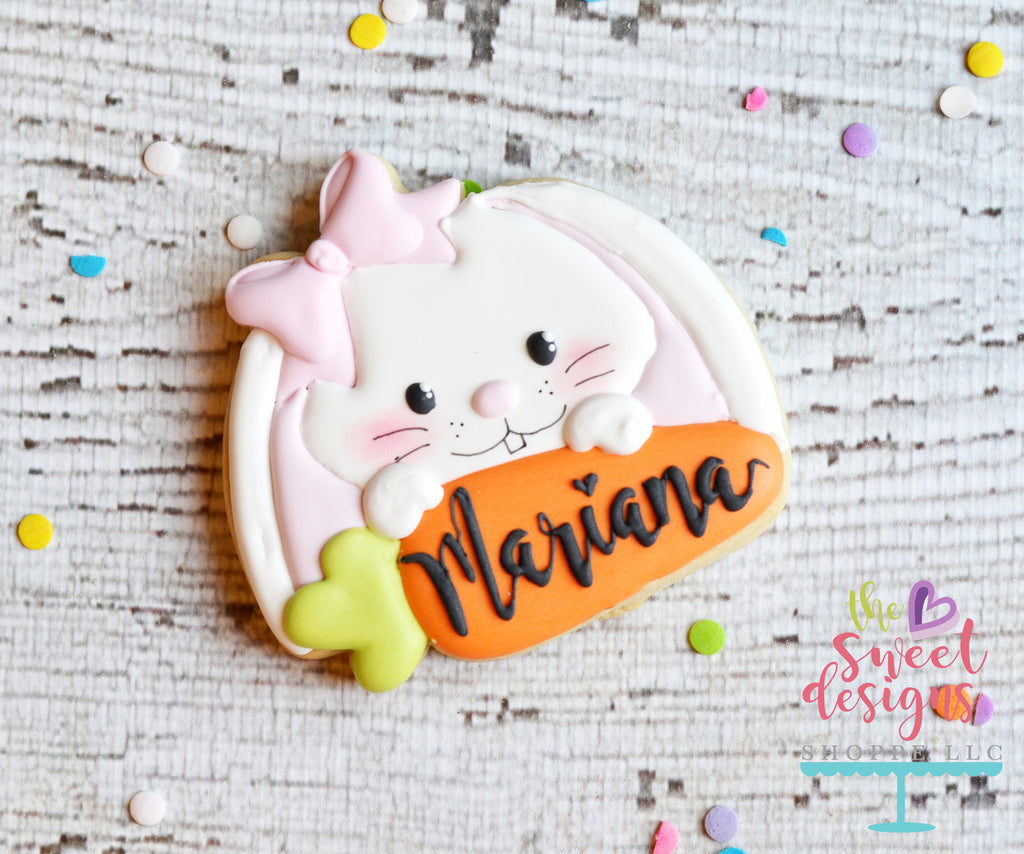 Girly Bunny and Carrot Plaque
