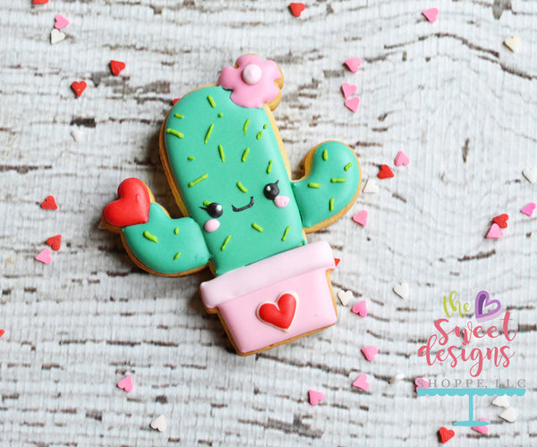 Cactus with Flower and Heart