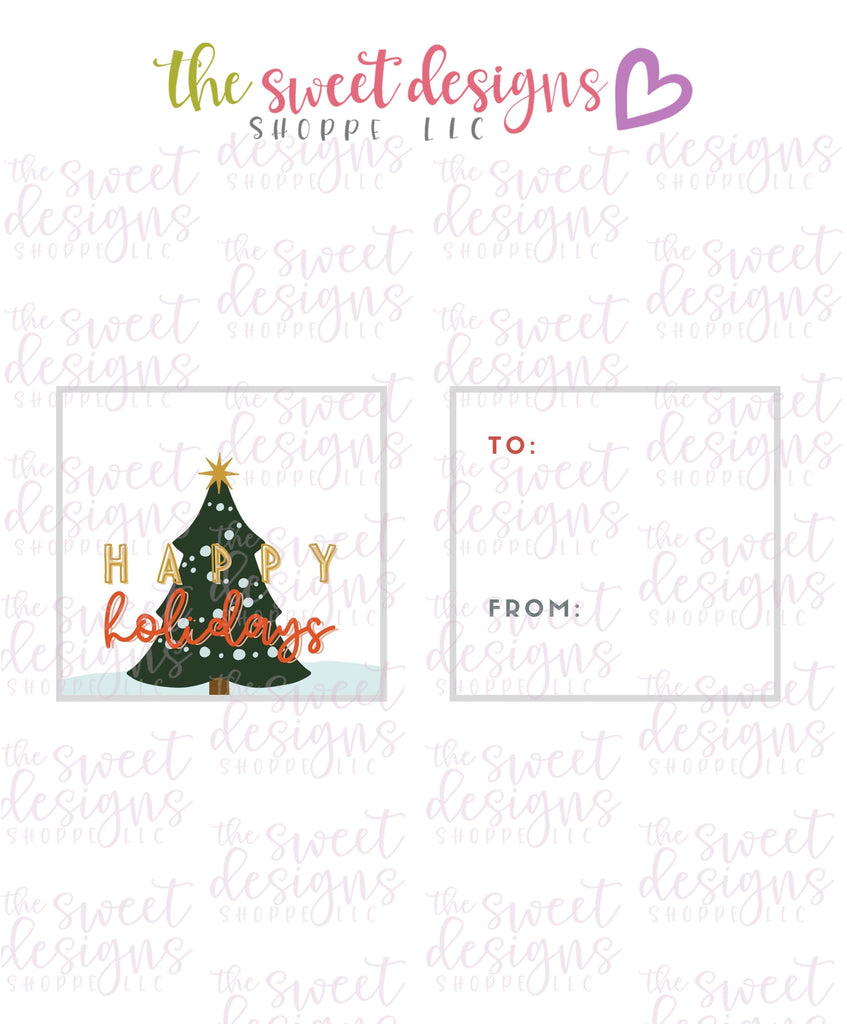 "Happy Holidays #2 - Instant Download 2"" x 2"" Tag"