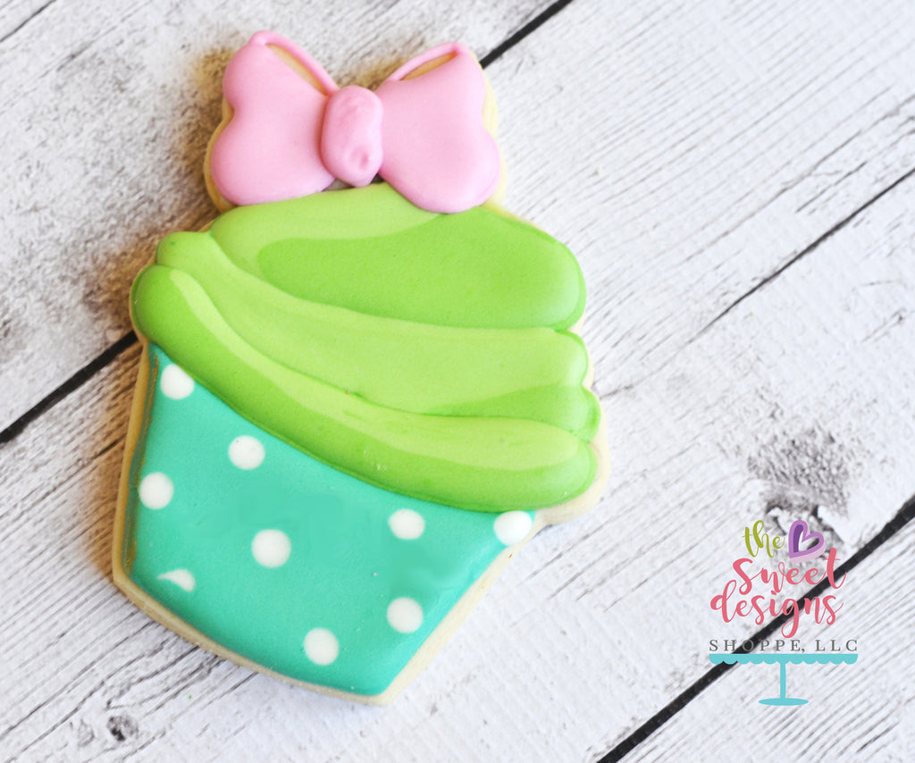 Cupcake with Bow - Cutter