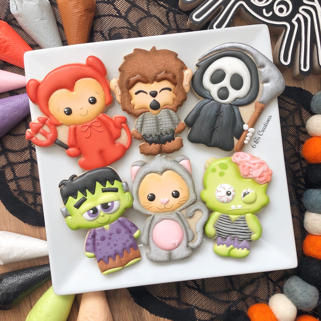 6B's Creations: Halloween Character Online Class - Set of 6 Cutters
