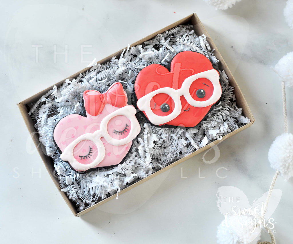 Nerdy Hearts 2 Piece Set - Cutters