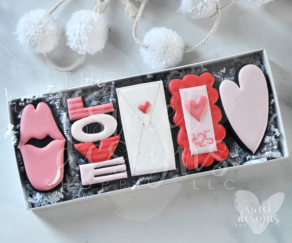 Tall Valentines LOVE  Set - Cutters