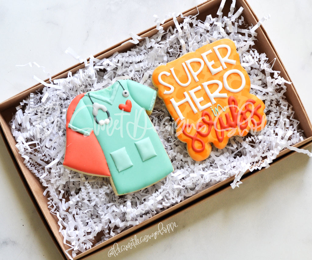 Superhero In Scrubs Set - Set of 2 - Cutters