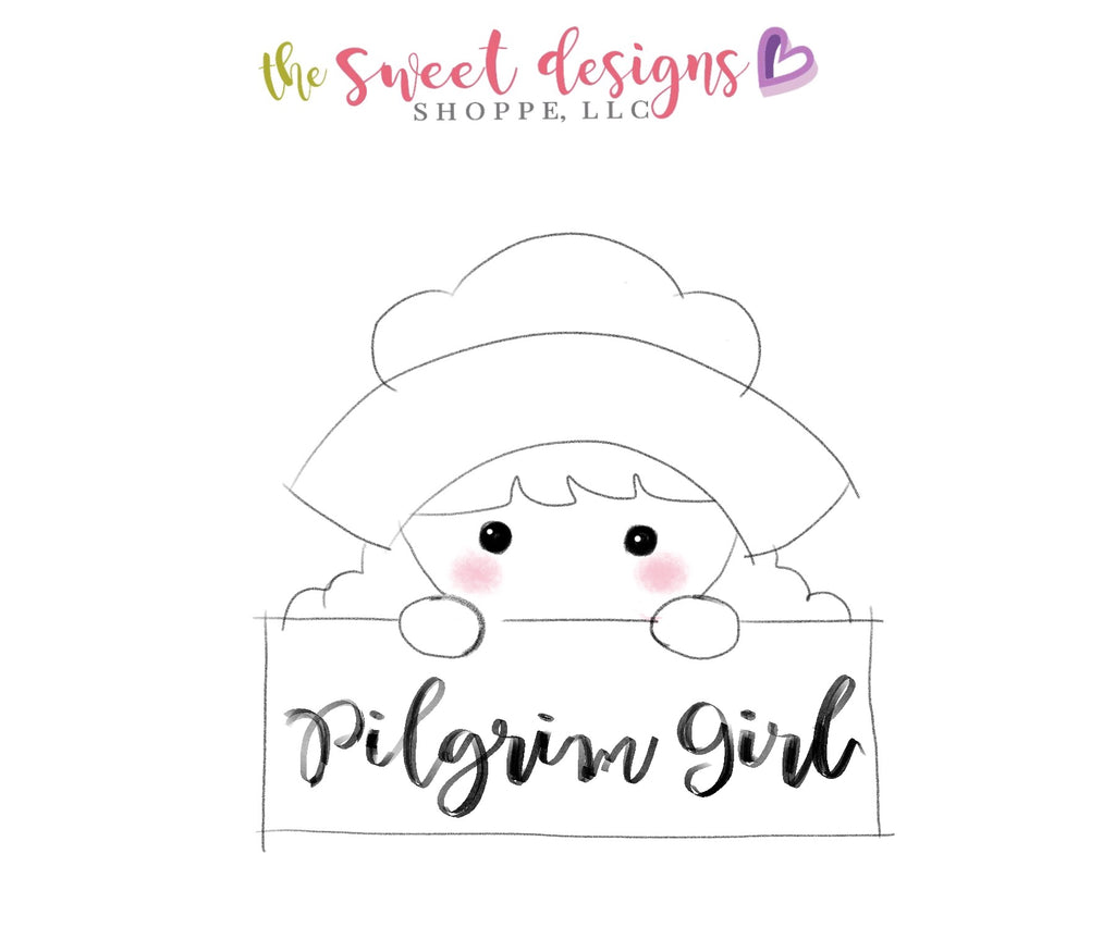 Pilgrim Girl Plaque - Cutter