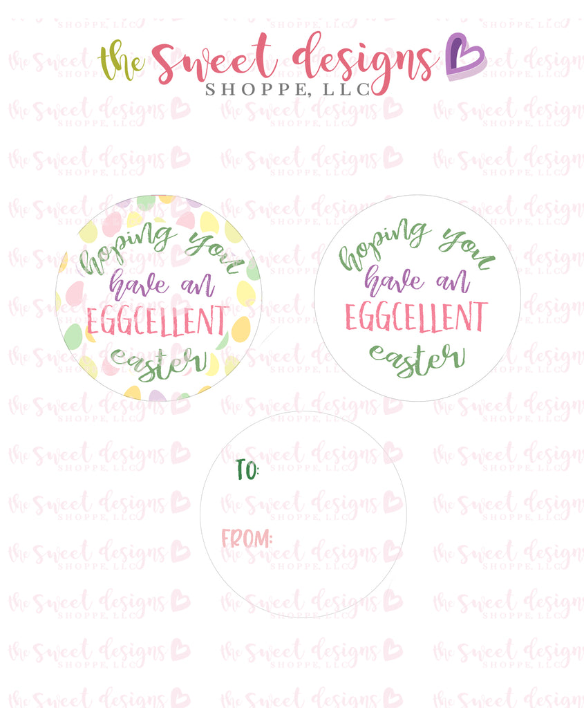 "EGGcellent Easter - Instant Download 2"" Round Tag"