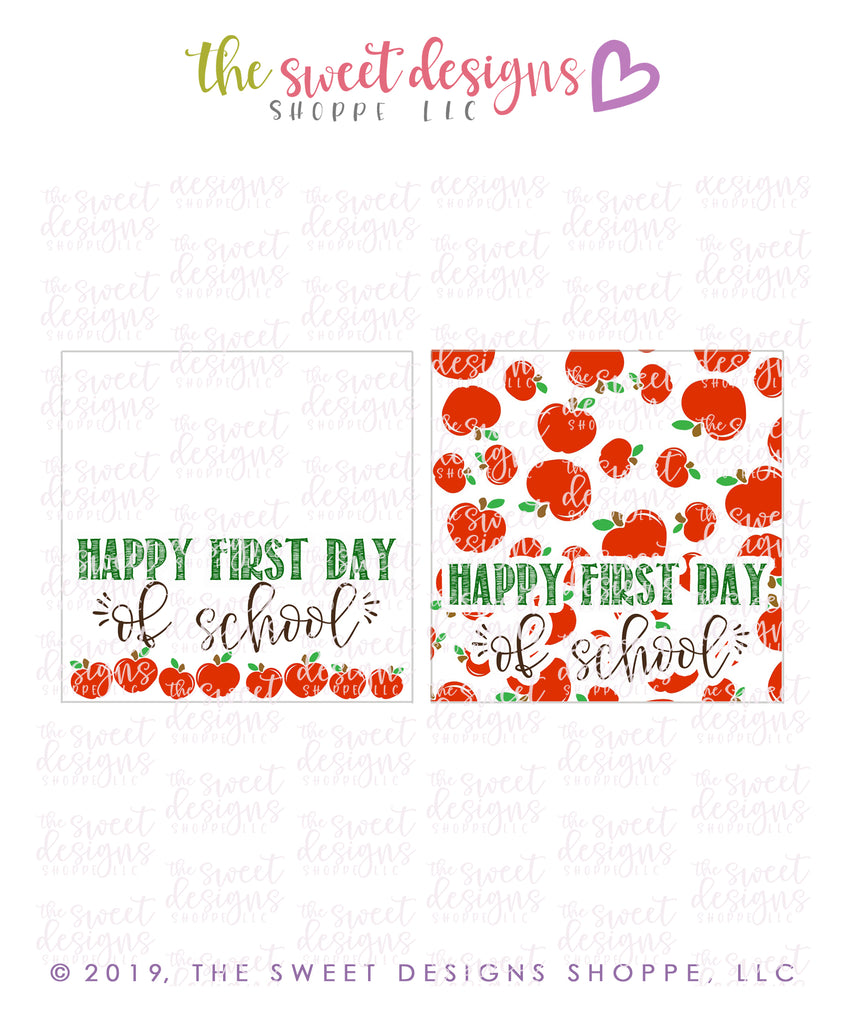 Happy First Day - Instant Download Topper 3""