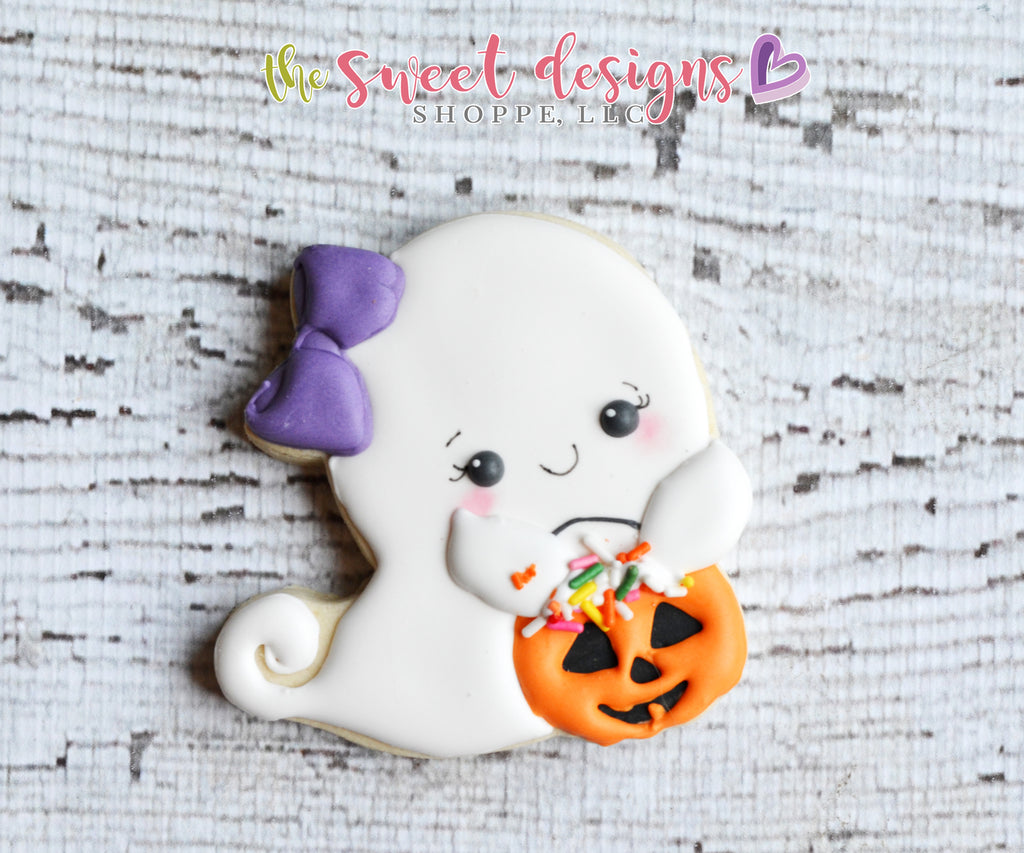 Trick or Treat Girly Ghost - Cutter