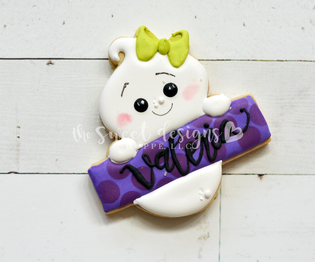 Girly Ghost Plaque - Cutter