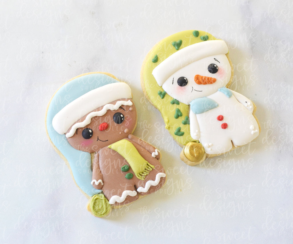 Gingerboy / Snowman with Slouchy Hat - Cutter