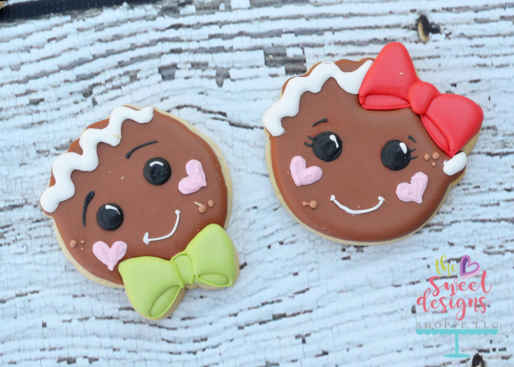Gingerbread Girl Face - Cutter