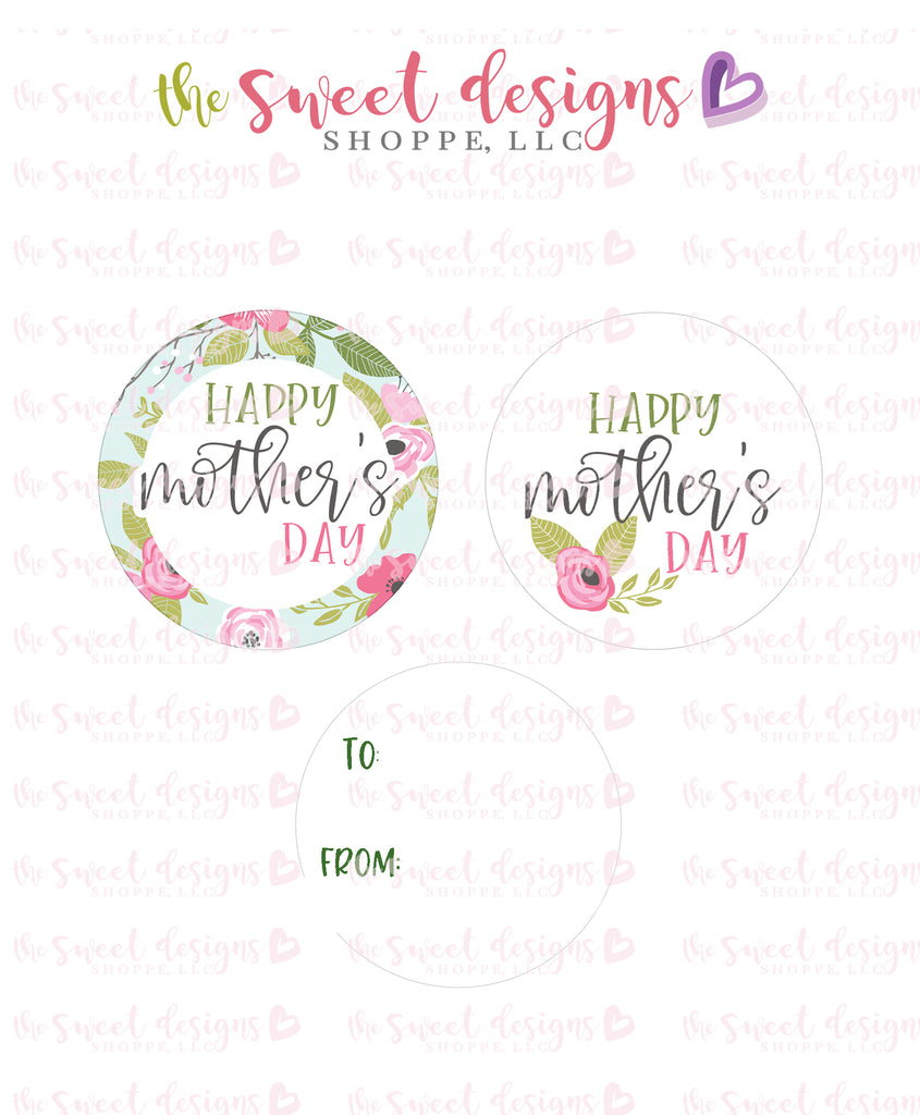 "Happy Mothers Day  - Instant Download 2"" Round Tag"