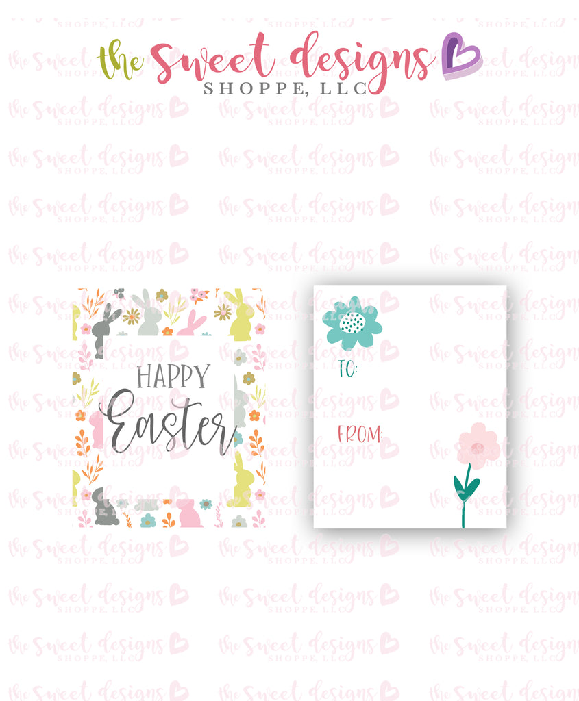 "Happy Easter - Instant Download 2"" x 2.5"" tag"