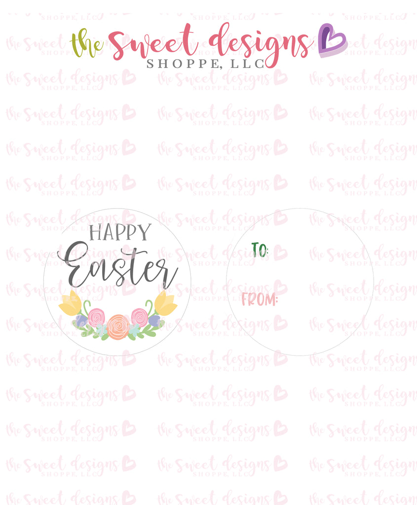 "Happy Easter  - Instant Download 2"" Round Tag"