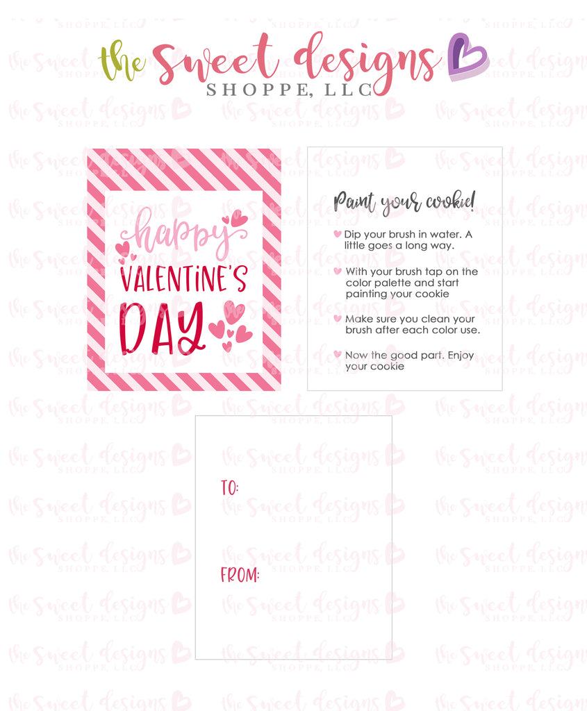 "Happy Valentine's Day- Instant Download 2"" X 2.5"" Tag"