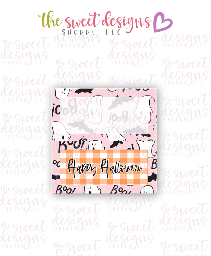 Happy Halloween #1  - Instant Download Topper 3""