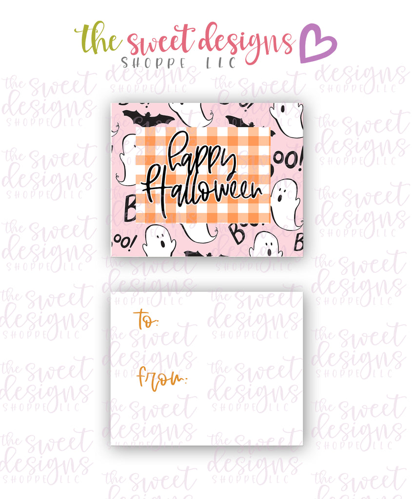 "Happy Halloween #1 - Instant Download 2"" x 2.5"" tag"