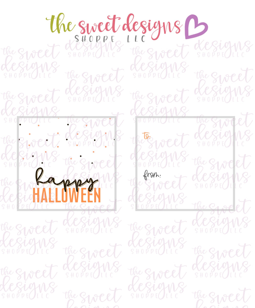 "Happy Halloween #5 - Instant Download 2"" x 2"" Tag"