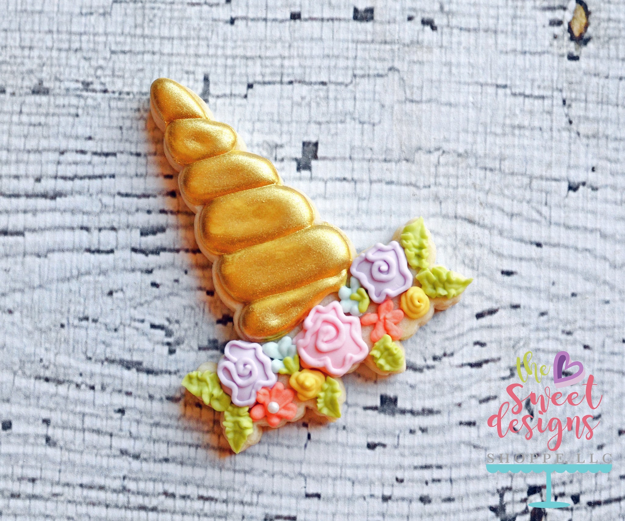 Unicorn Horn With Flowers Sweet Designs Shoppe