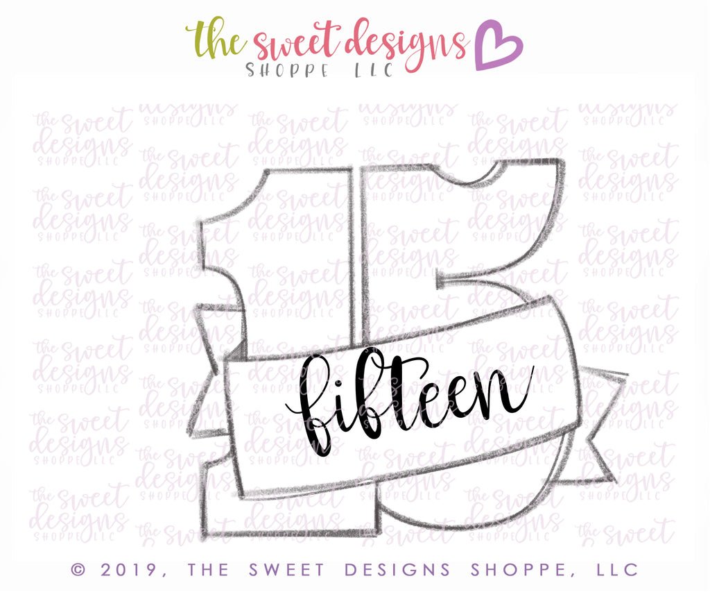 Fifteen with Ribbon - Cutter