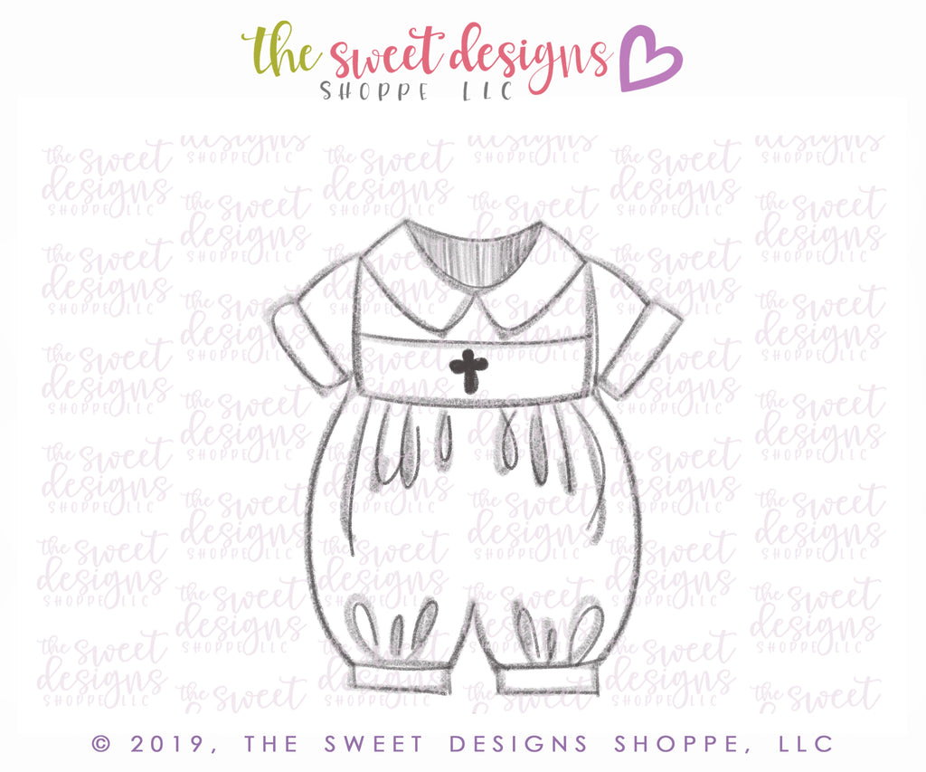 Baptism Bubble Romper - Cutter