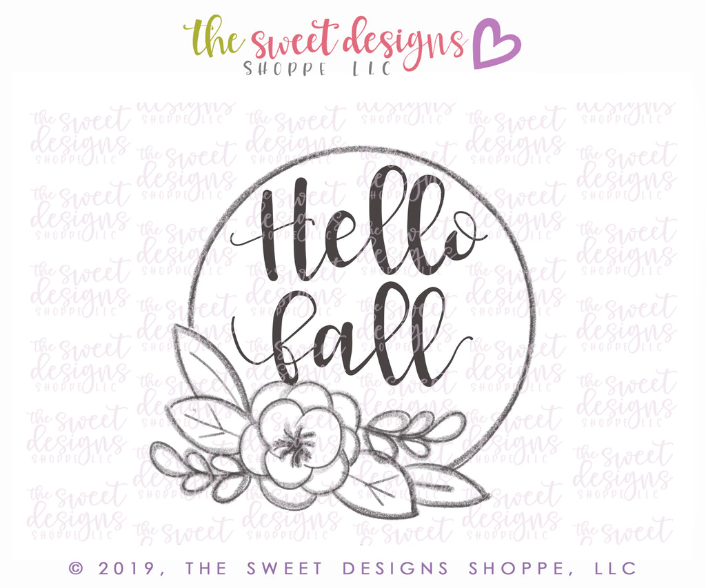 Hello Fall 2019 Plaque - Cutter