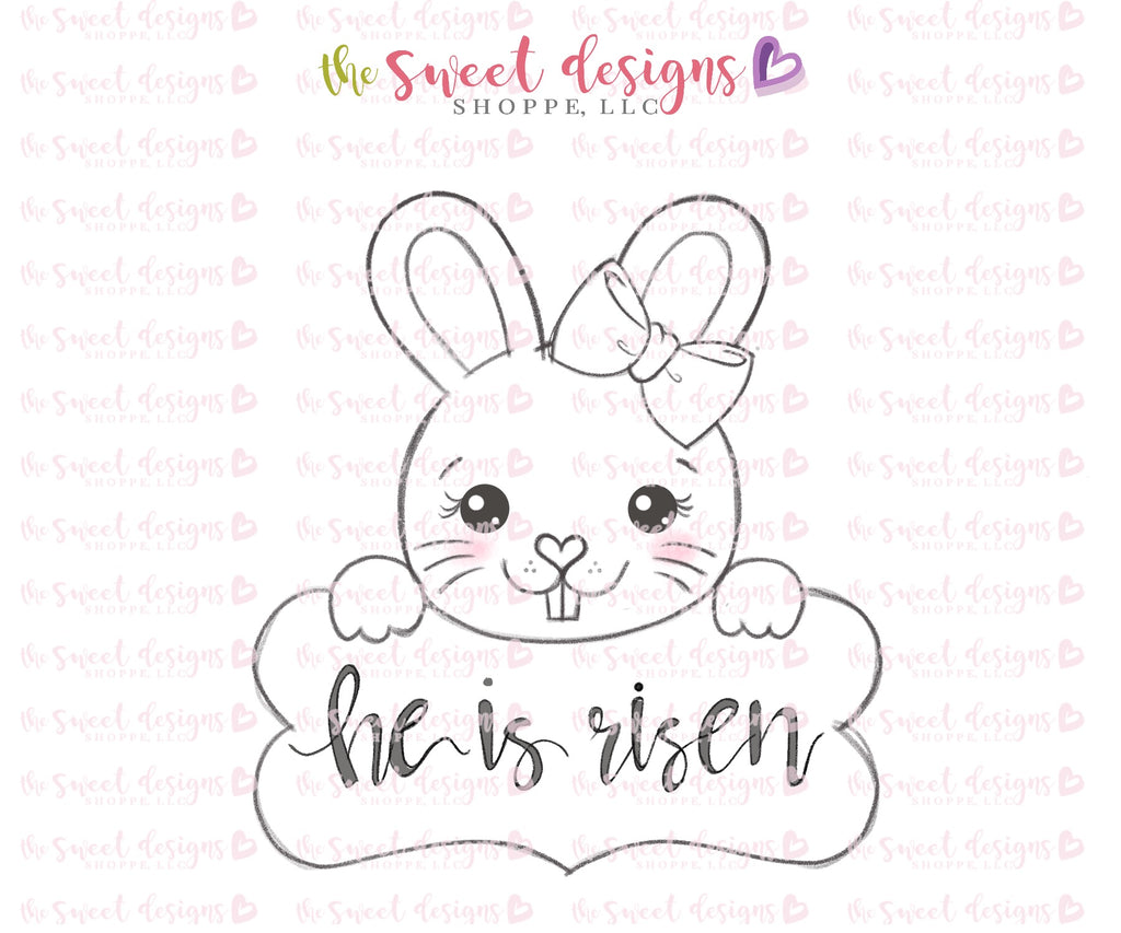 Girly Bunny Plaque 2018 - Cutter