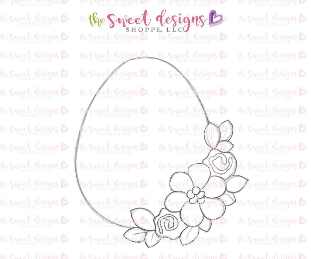Floral Egg Two - Cutter
