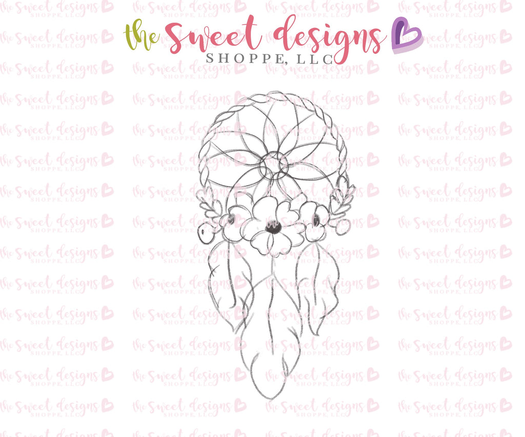 Floral Dream Catcher A - Cutter