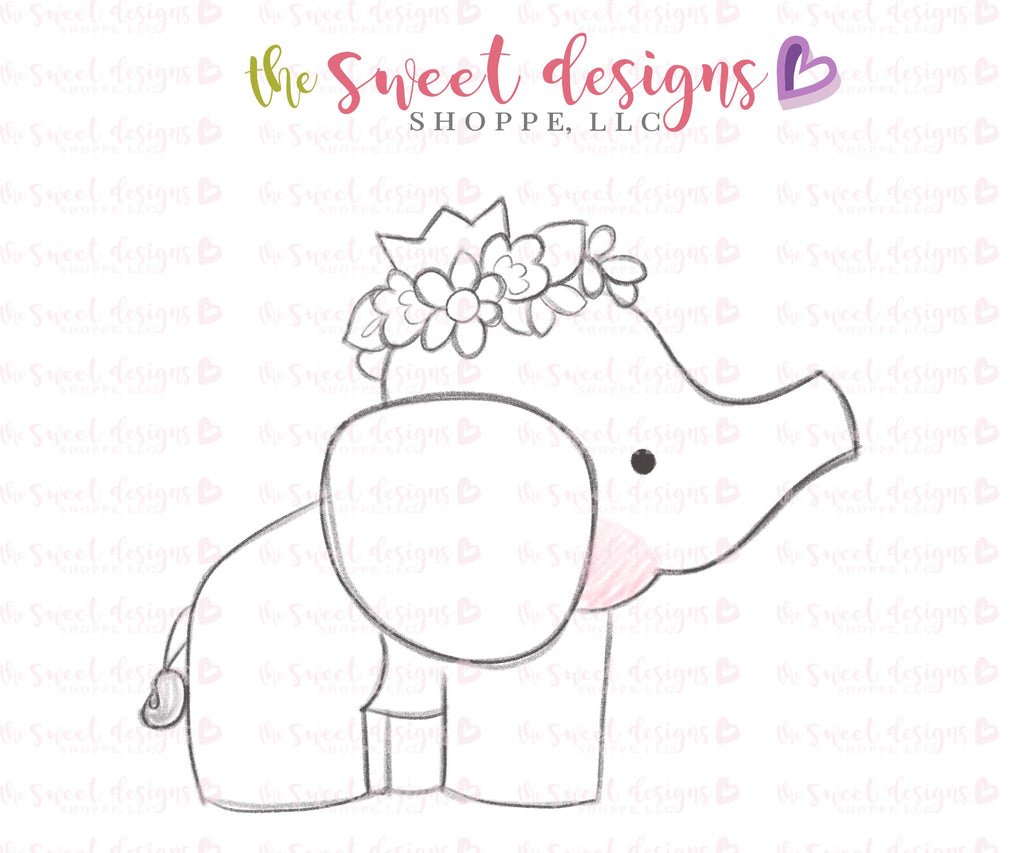 Elephant with Flowers - Cutter
