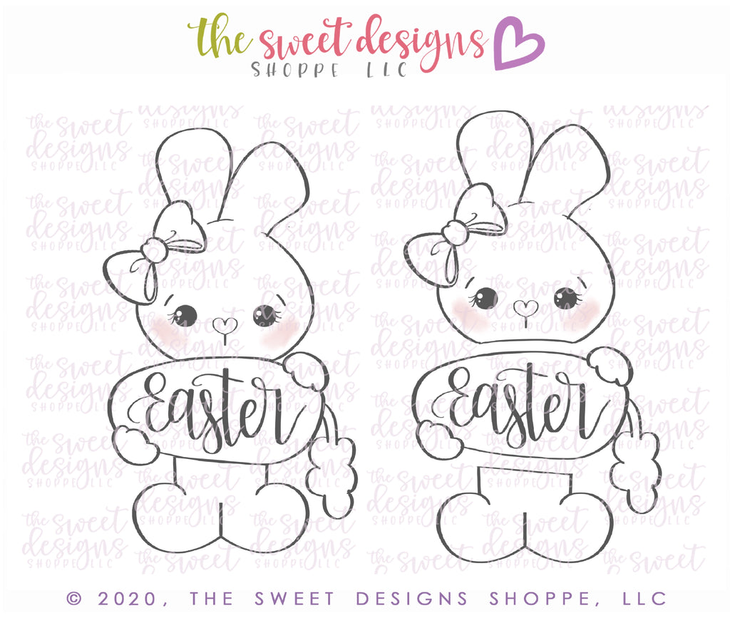 Girly Easter Bunny Set - Cutters