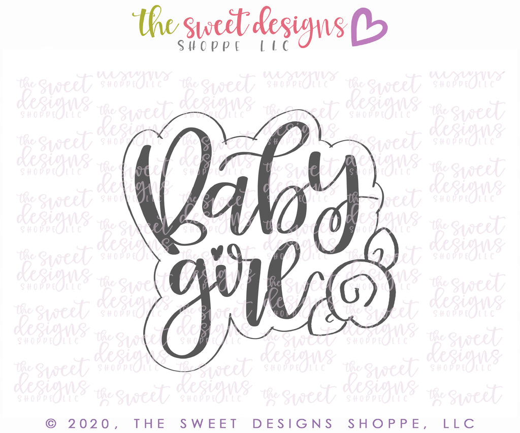 Floral Baby Girl Plaque - Cutter