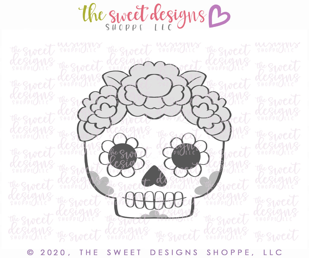 Girly Calavera Skull - Cutter
