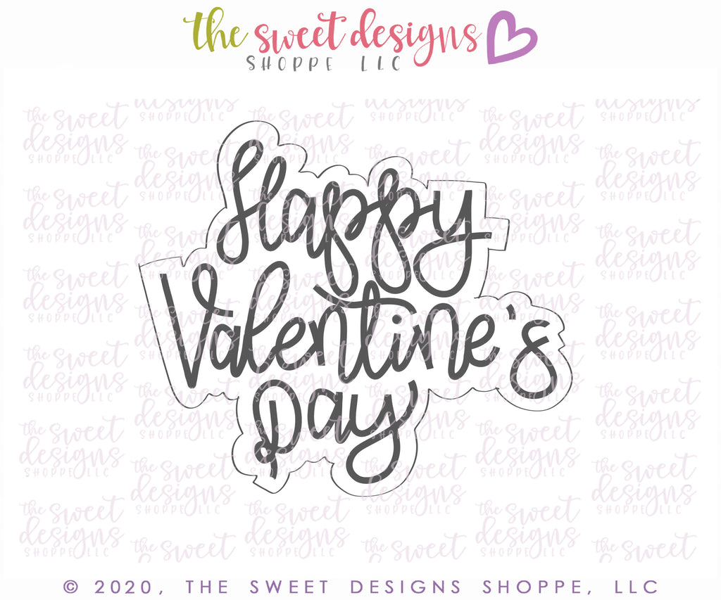 Happy Valentine's Day - Plaque - Cutter