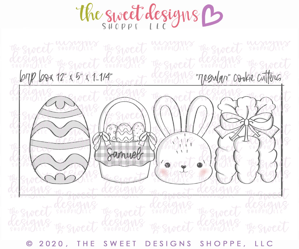 "Easter Day Set  - Cutters for Box 12"" x 5"""