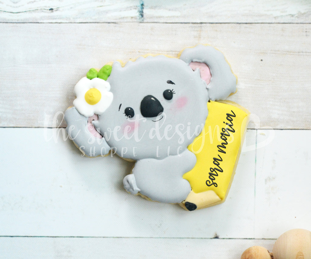 Girly Koala in Pencil - Cutter