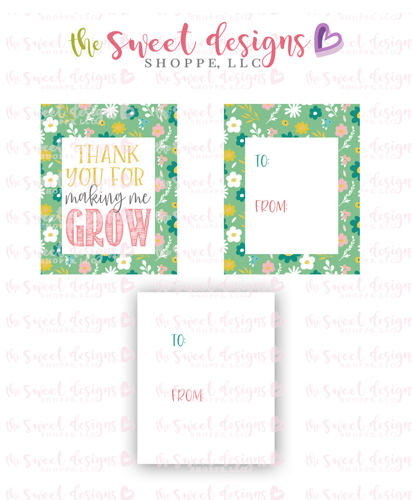"Making me Grow - Instant Download 2"" x 2.5"" tag"